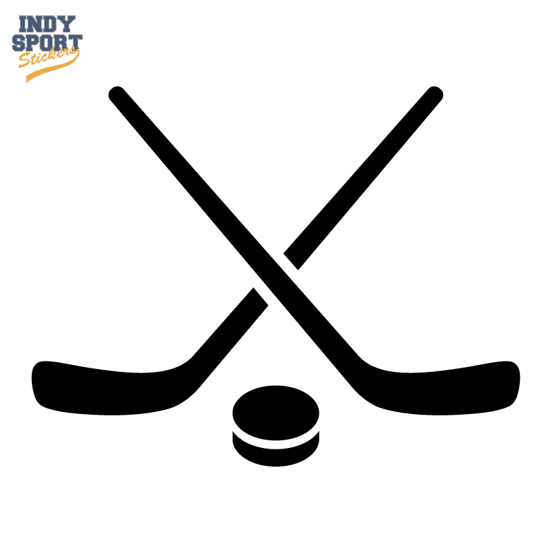 hockey puck and stick crossed silhouette car stickers and decals hockey stick clipart transparent hockey stick clip art free