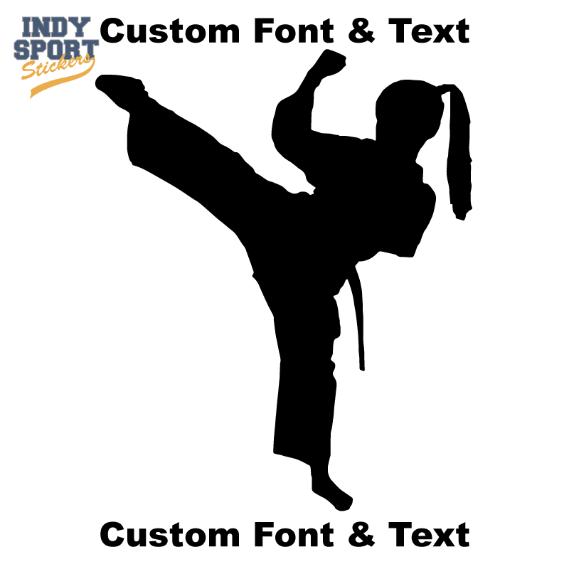 Martial Arts Karate Female Girl Kicking Silhouette Indy