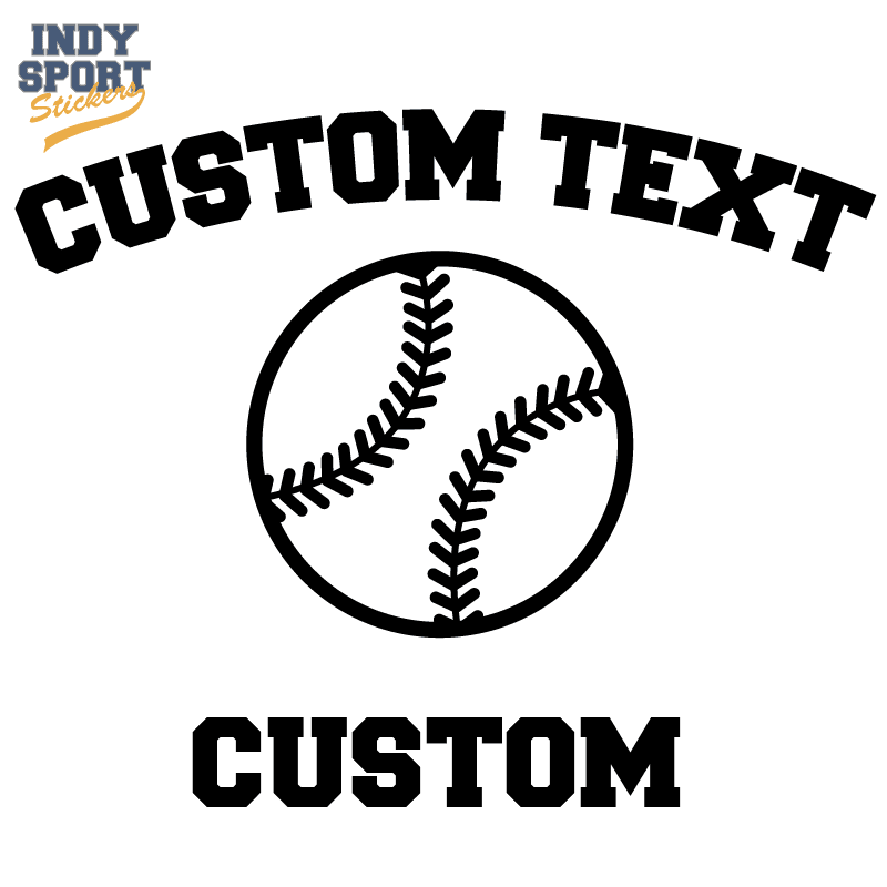 Softball Dad Text With Silhouette Ball Indy Sport Stickers
