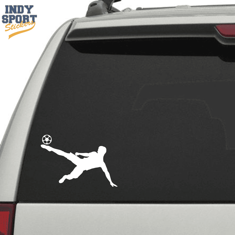 Soccer player silhouette sidekick ball car stickers and decals