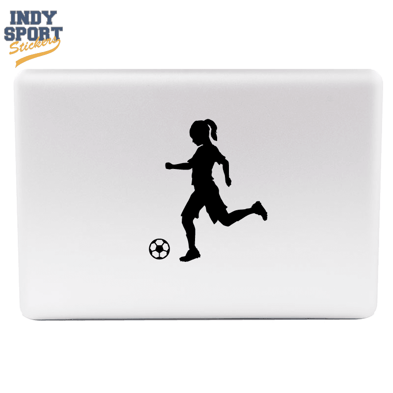 Soccer Player Girl Silhouette Kicking Ball Indy Sport