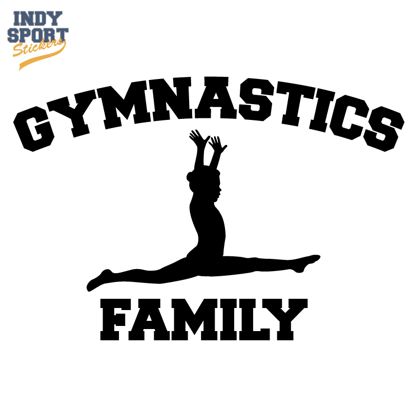 Gymnastics family with gymnast