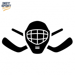 Hockey Stick Crossed with Goalie Mask Silhouette