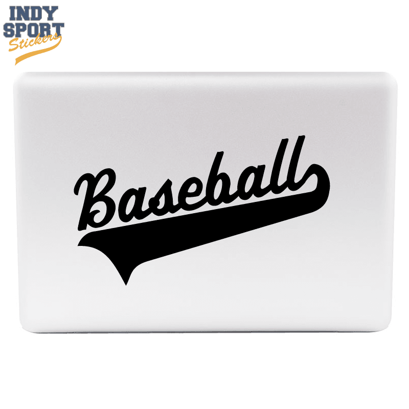 Baseball Script Text And Tail Car Stickers And Decals