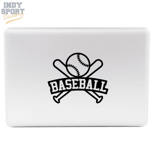 Baseball Bats & Ball with Text Decal Sticker for Laptop