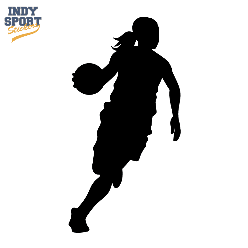 Basketball Silhouette Player Girl Decal Car Stickers And