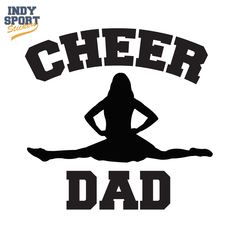Decals Female Cheer With Car Decal Text Stickers Dad Silhouette And OkwP0XN8n