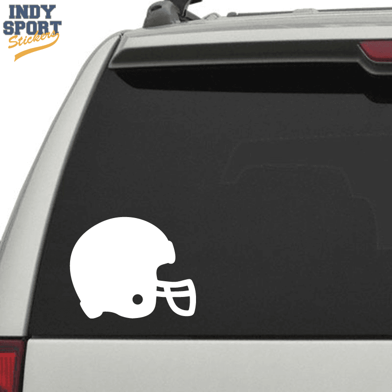 Football Helmet Silhouette Car Stickers And Decals