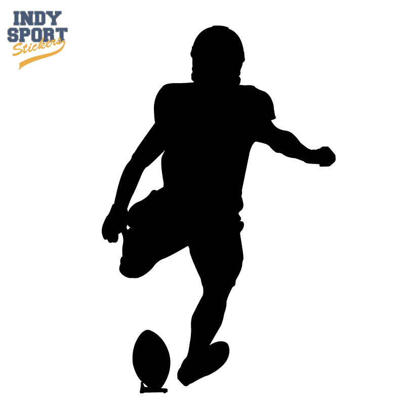 silhouette football decal for cars windows laptops and more