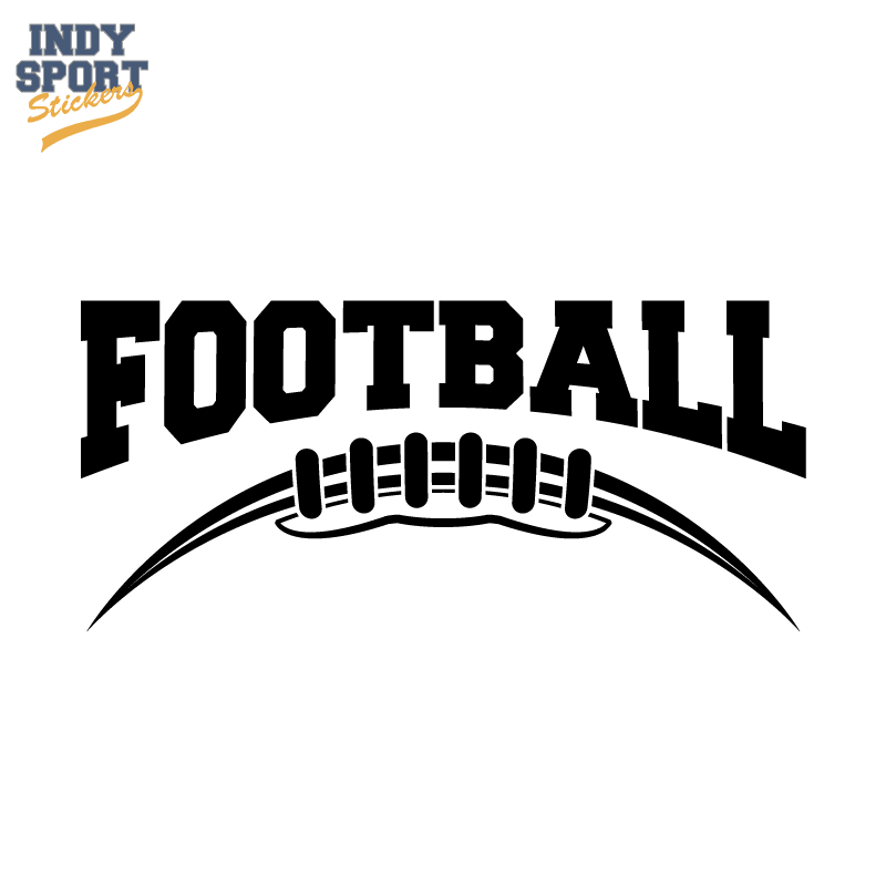 Silhouette football decal for cars windows laptops and more silhouette football with text