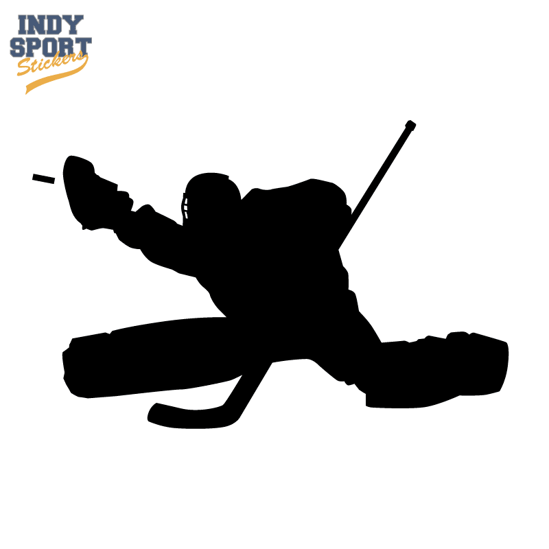 Hockey Goalie In Silhouette Car Stickers And Decals
