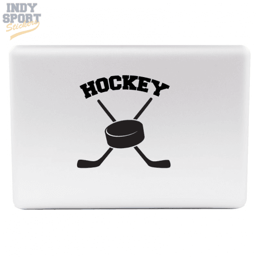 Hockey Puck with Crossed Sticks Decal or Sticker for Laptop or other Electronic Devices