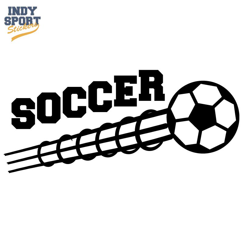 Customized Sport Soccer Window Sticker Ball Goal Team Car Decal America