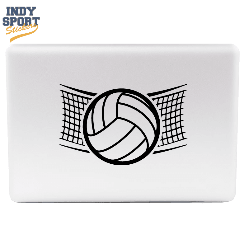 Volleyball Net With Volleyball Silhouette Car Stickers