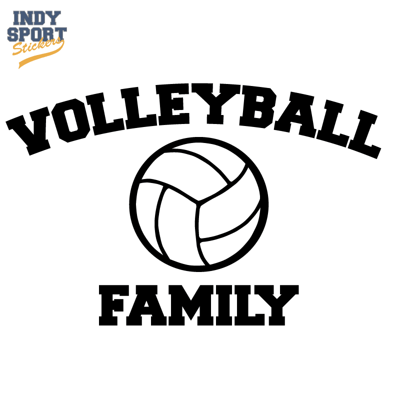Silhouette volleyball decal for cars windows laptops and more